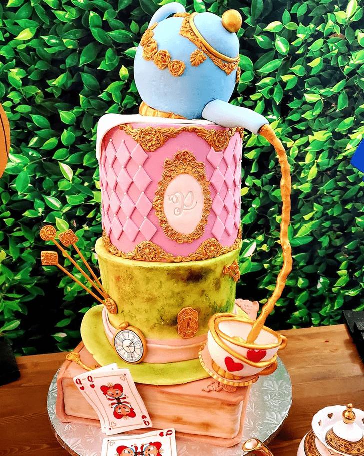 Shapely Alice in Wonderland Cake