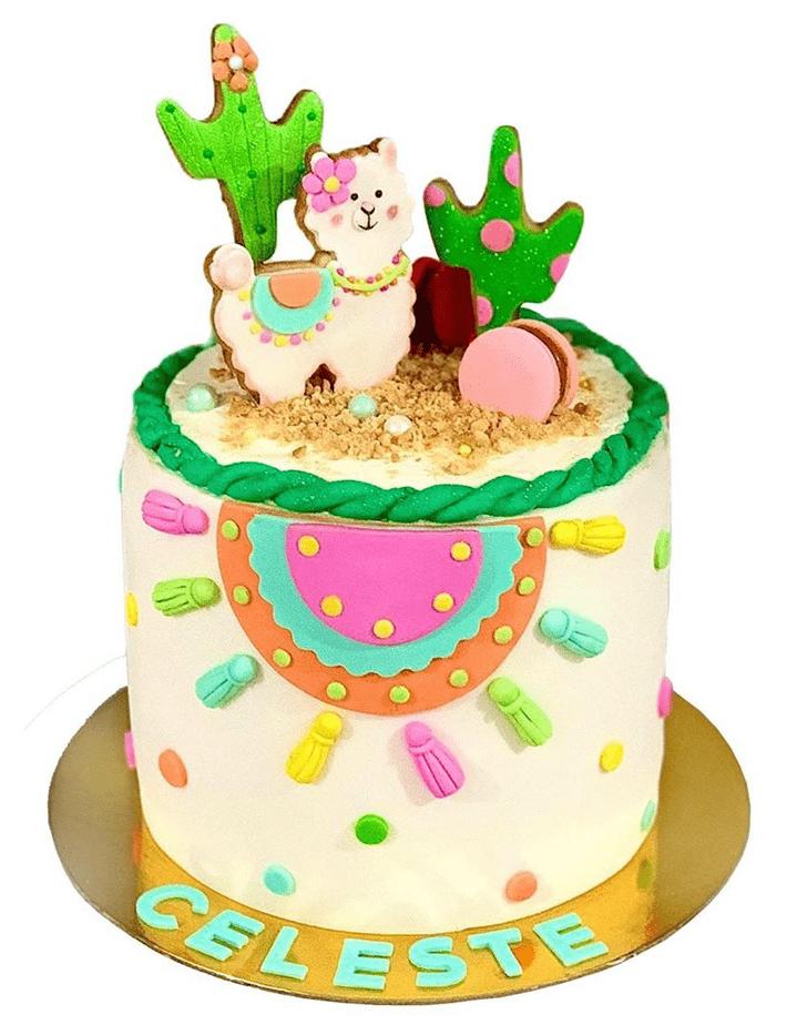 Admirable Alpaca Cake Design