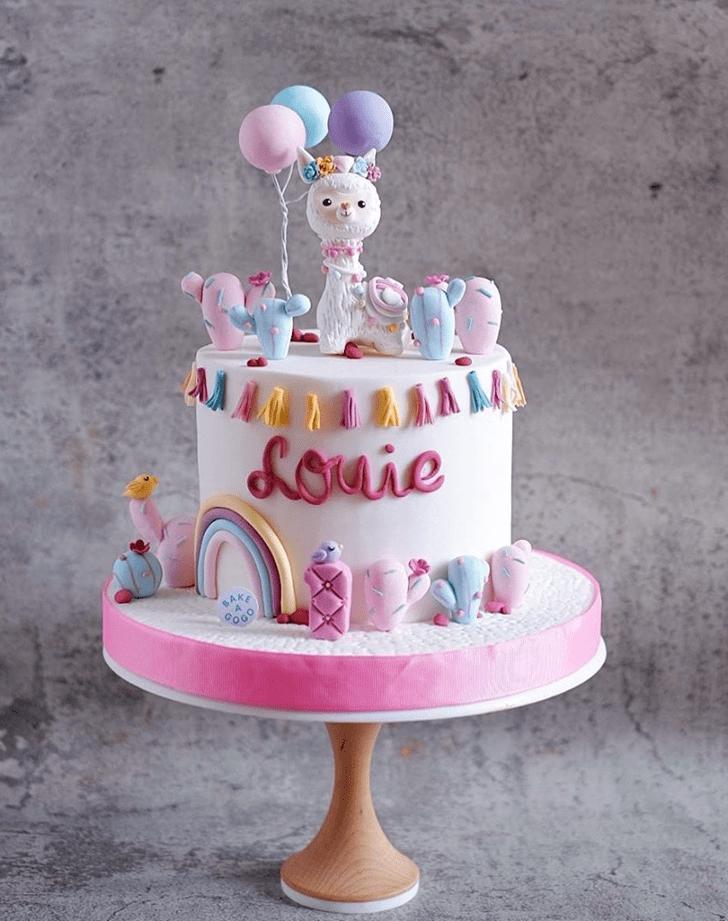 Adorable Alpaca Cake