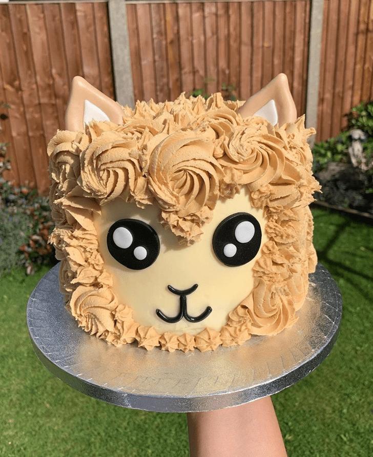 Alluring Alpaca Cake