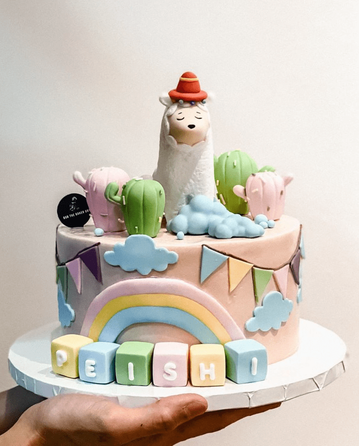 Appealing Alpaca Cake