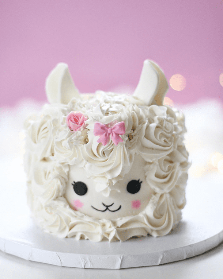 Classy Alpaca Cake