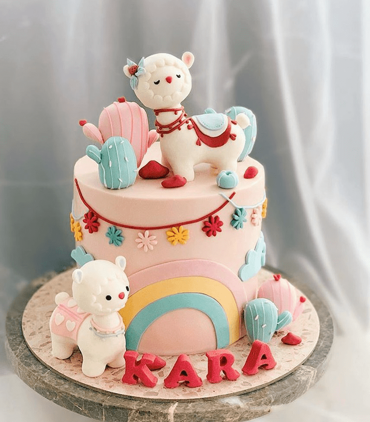 Delicate Alpaca Cake