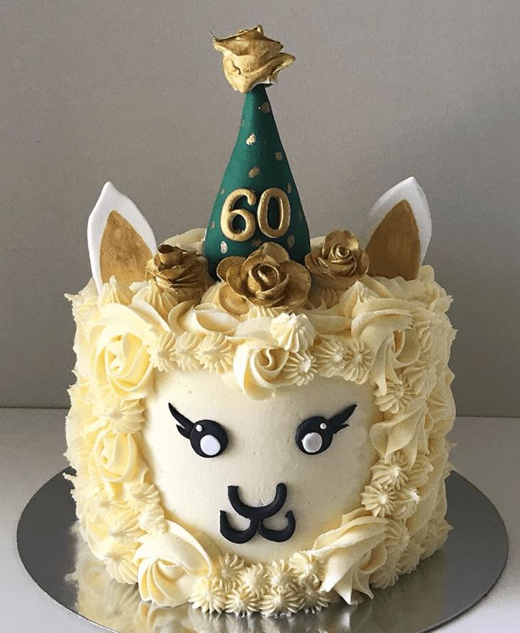 Gorgeous Alpaca Cake