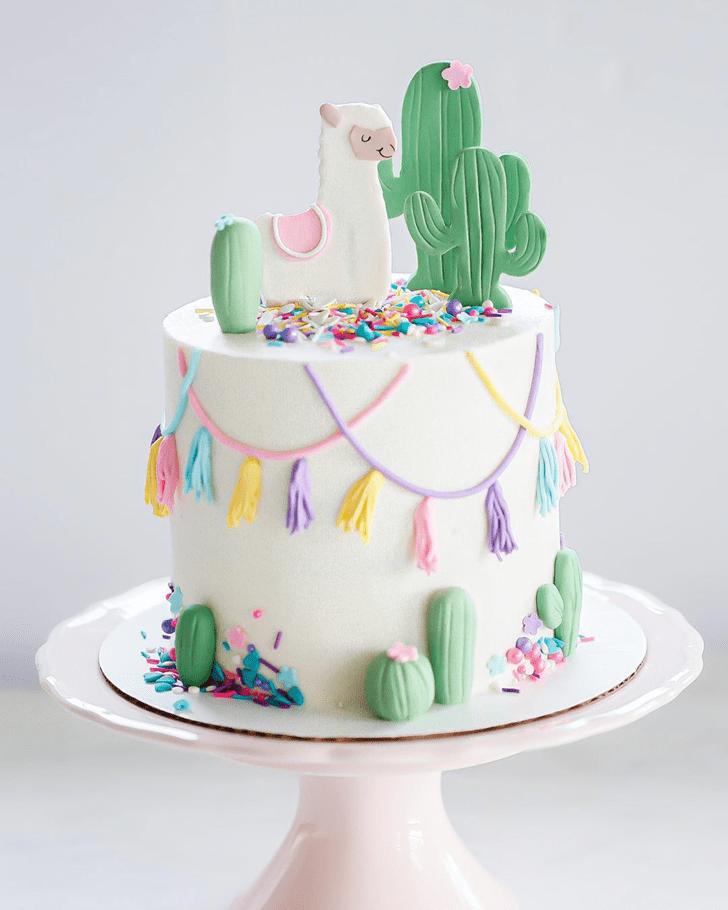 Lovely Alpaca Cake Design