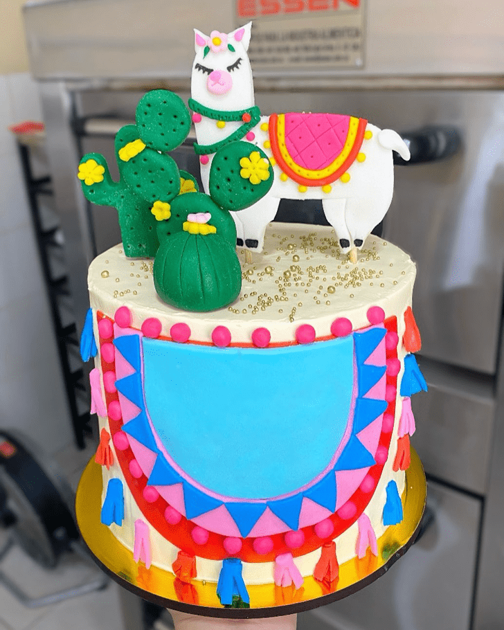 Mesmeric Alpaca Cake