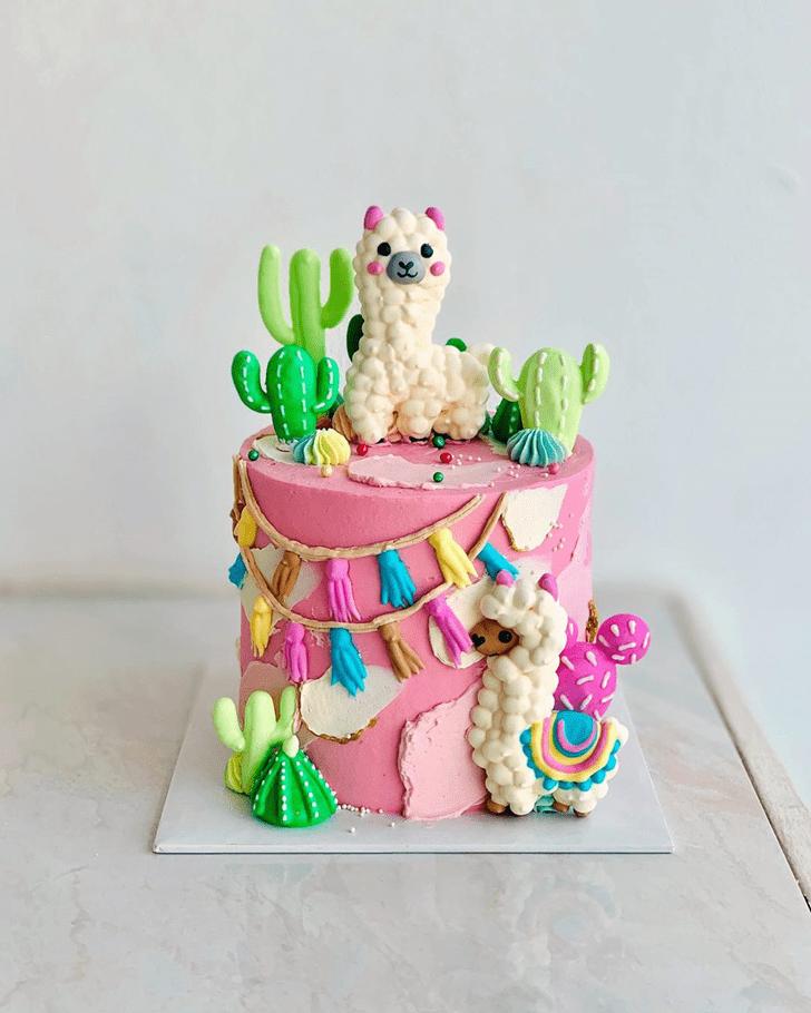 Ravishing Alpaca Cake