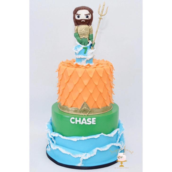 Adorable Aquaman Cake