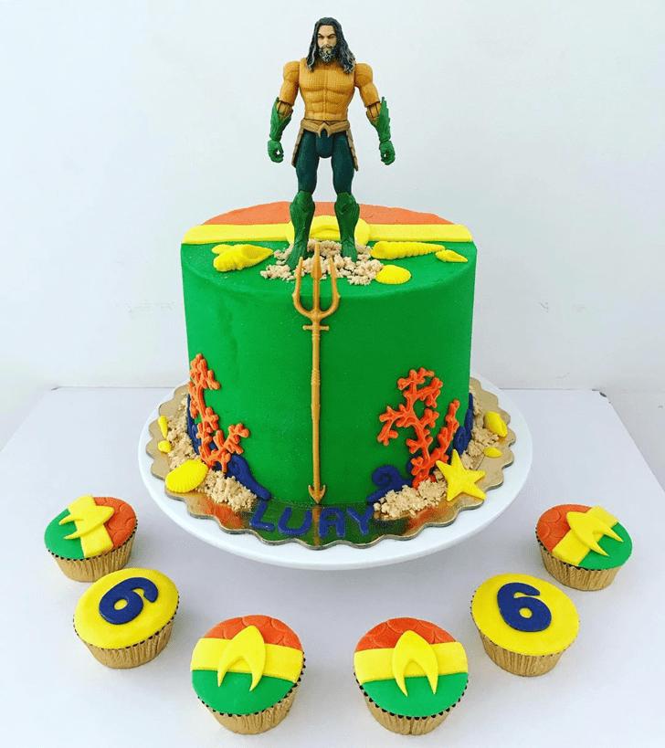 Alluring Aquaman Cake