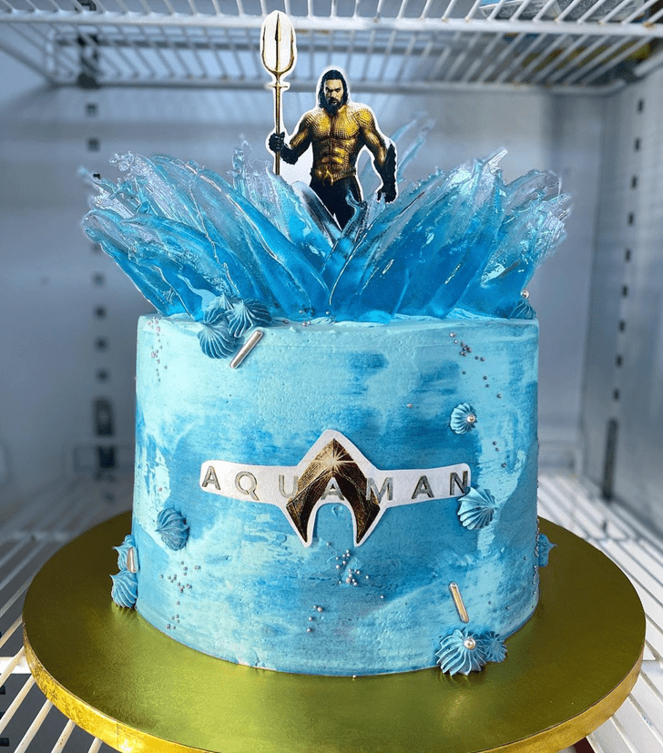 Angelic Aquaman Cake