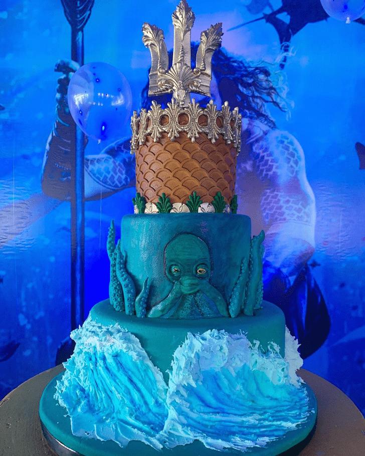 Charming Aquaman Cake
