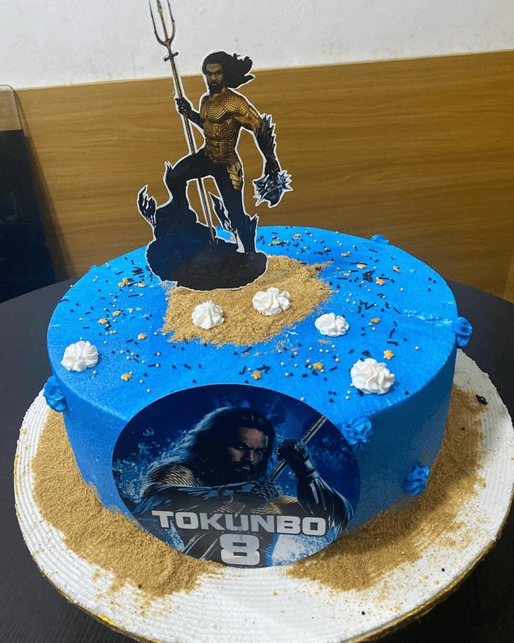 Classy Aquaman Cake