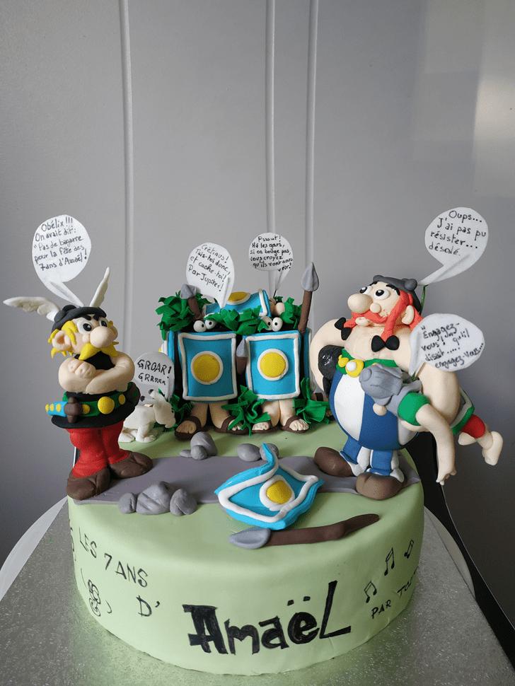 Admirable Asterix Cake Design