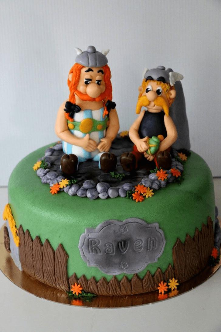 Alluring Asterix Cake
