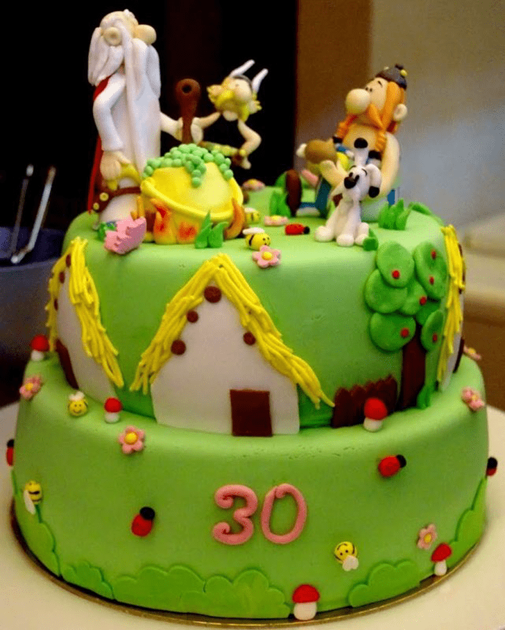 Appealing Asterix Cake