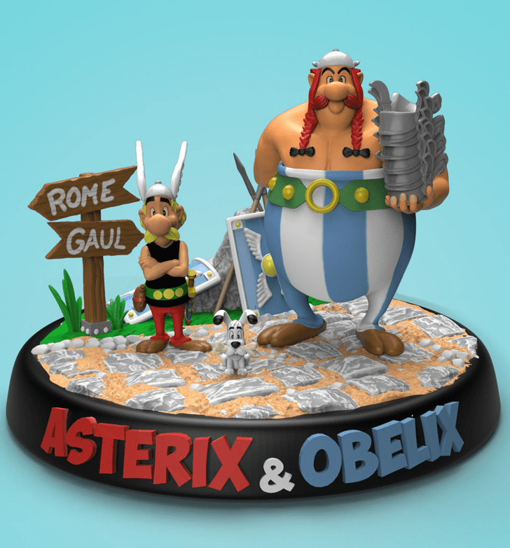 Captivating Asterix Cake