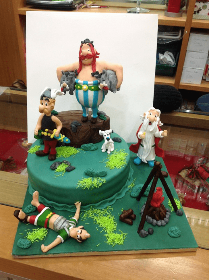 Comely Asterix Cake
