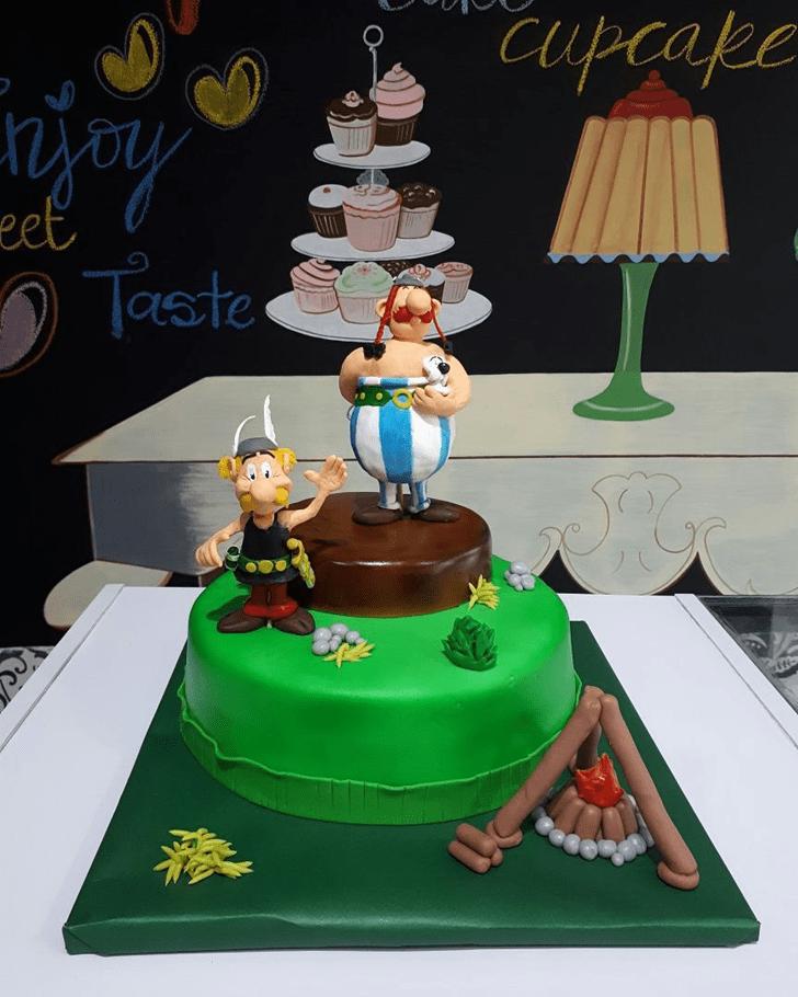 Graceful Asterix Cake
