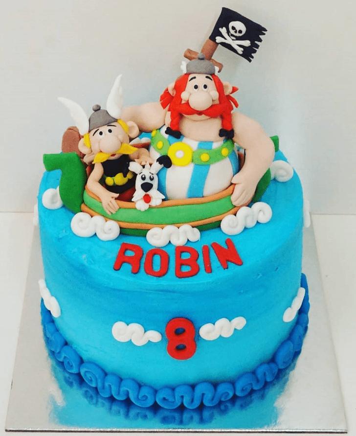 Handsome Asterix Cake