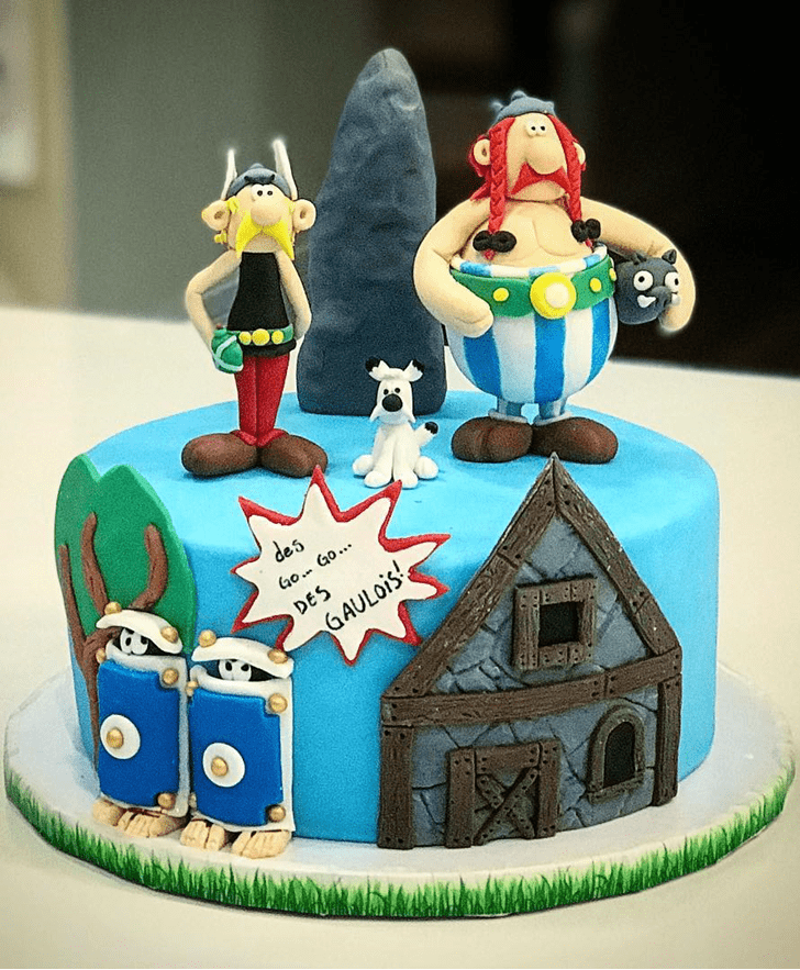 Magnetic Asterix Cake