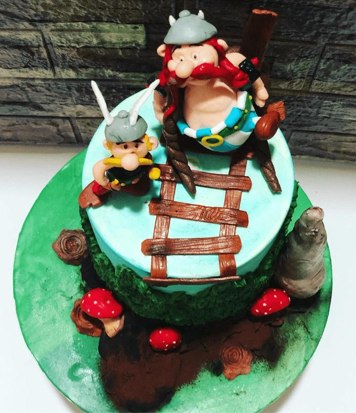 Mesmeric Asterix Cake