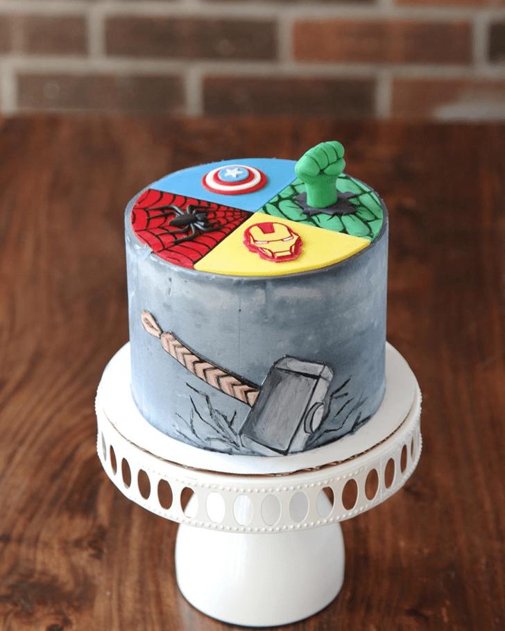 Admirable Avengers Cake Design