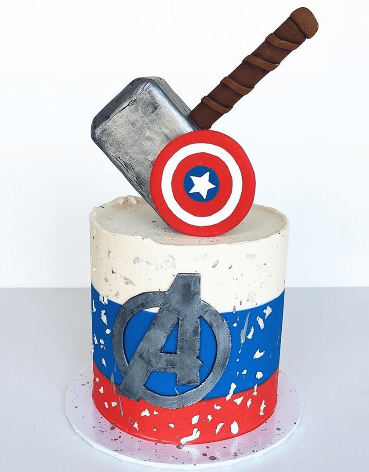 Alluring Avengers Cake
