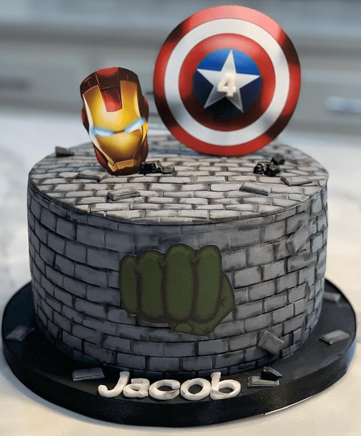 Angelic Avengers Cake