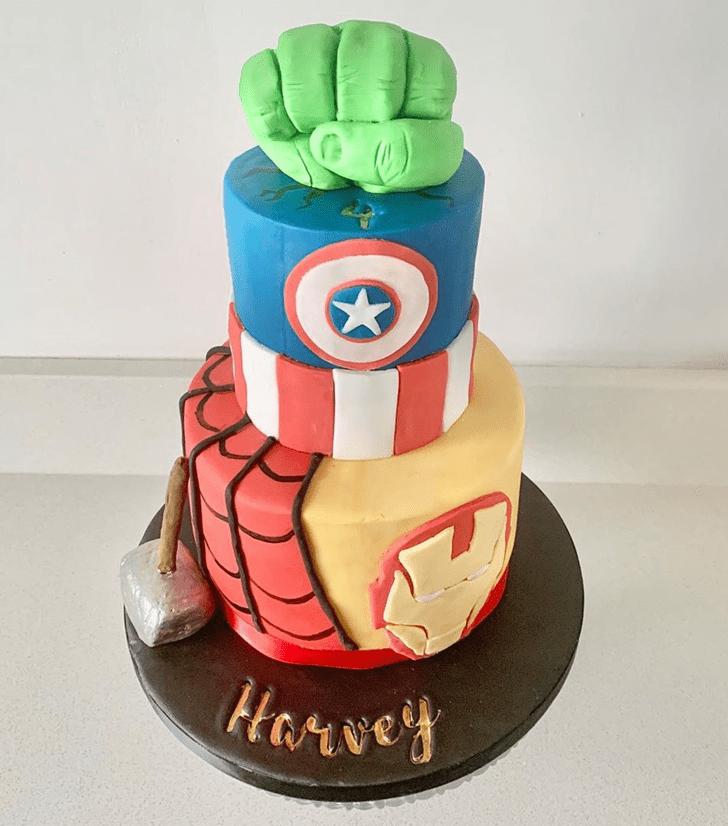 Appealing Avengers Cake
