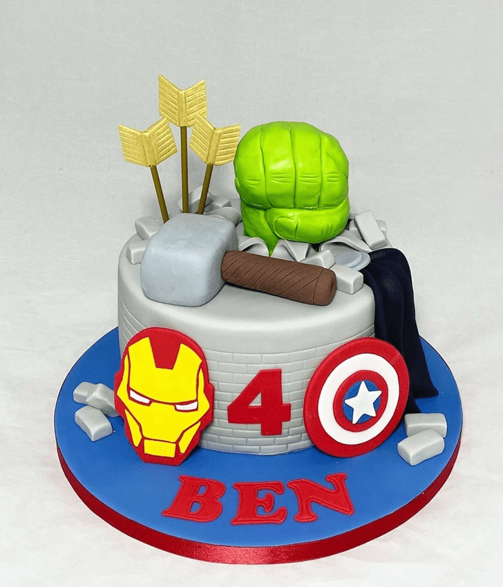 Bewitching Avengers Cake