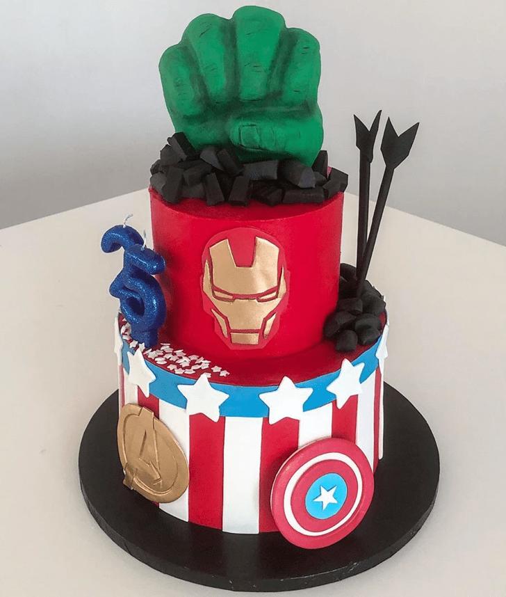 Captivating Avengers Cake