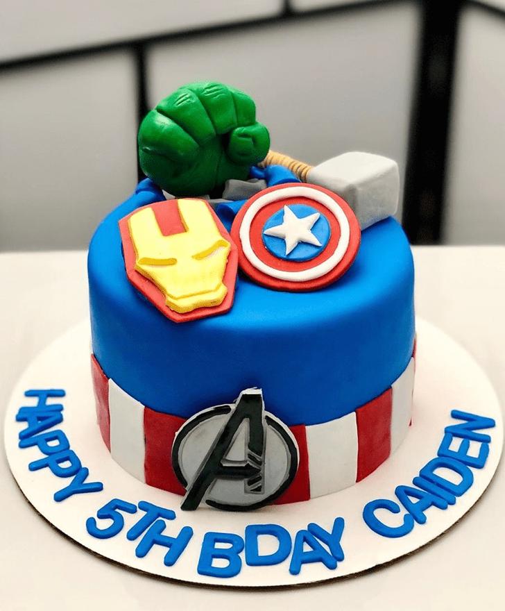 Classy Avengers Cake