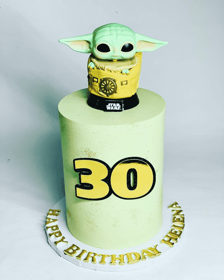 Angelic Baby Yoda Cake
