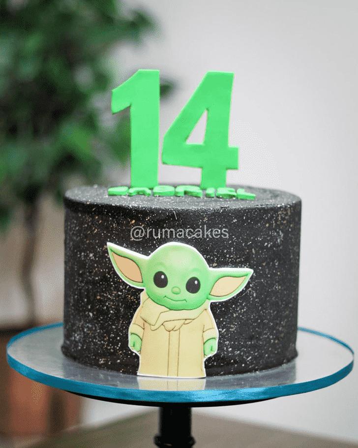 Appealing Baby Yoda Cake