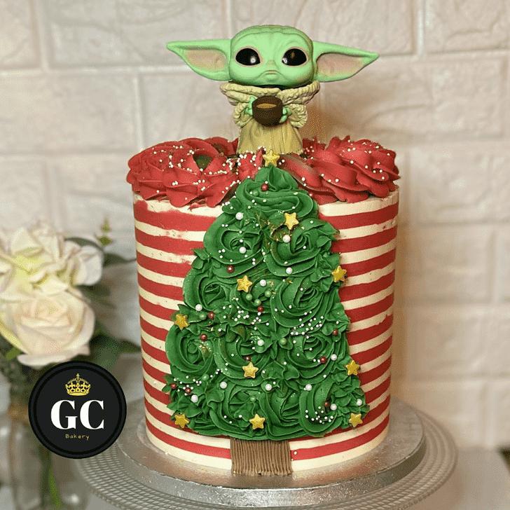 Beauteous Baby Yoda Cake