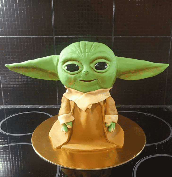 Captivating Baby Yoda Cake