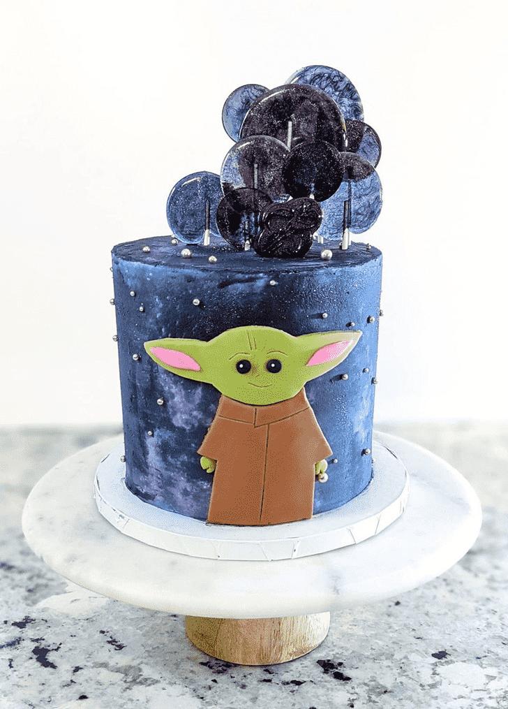 Charming Baby Yoda Cake