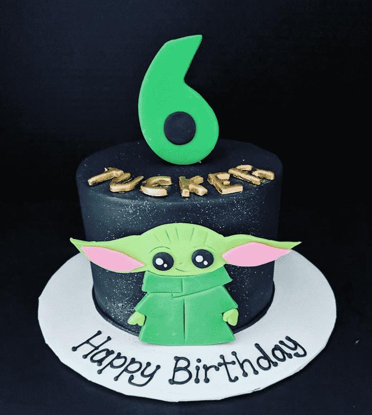 Classy Baby Yoda Cake