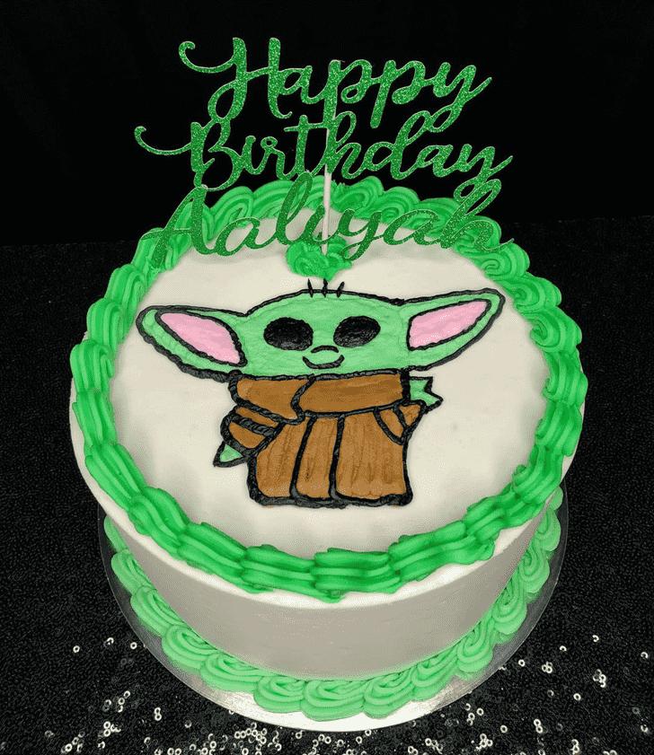 Cute Baby Yoda Cake