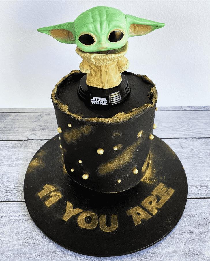 Dazzling Baby Yoda Cake