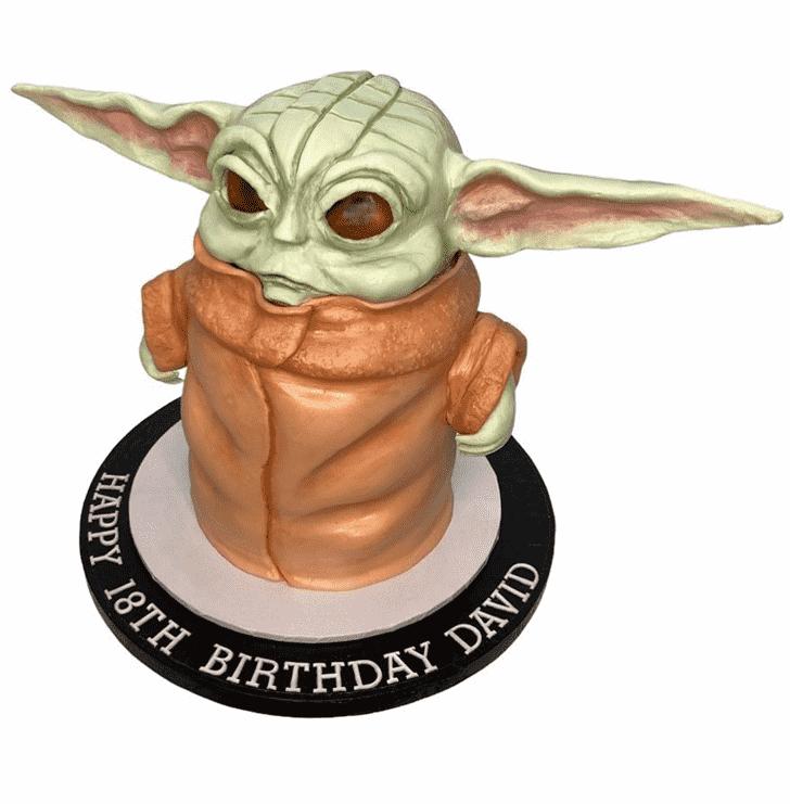 Divine Baby Yoda Cake