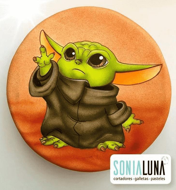 Enthralling Baby Yoda Cake