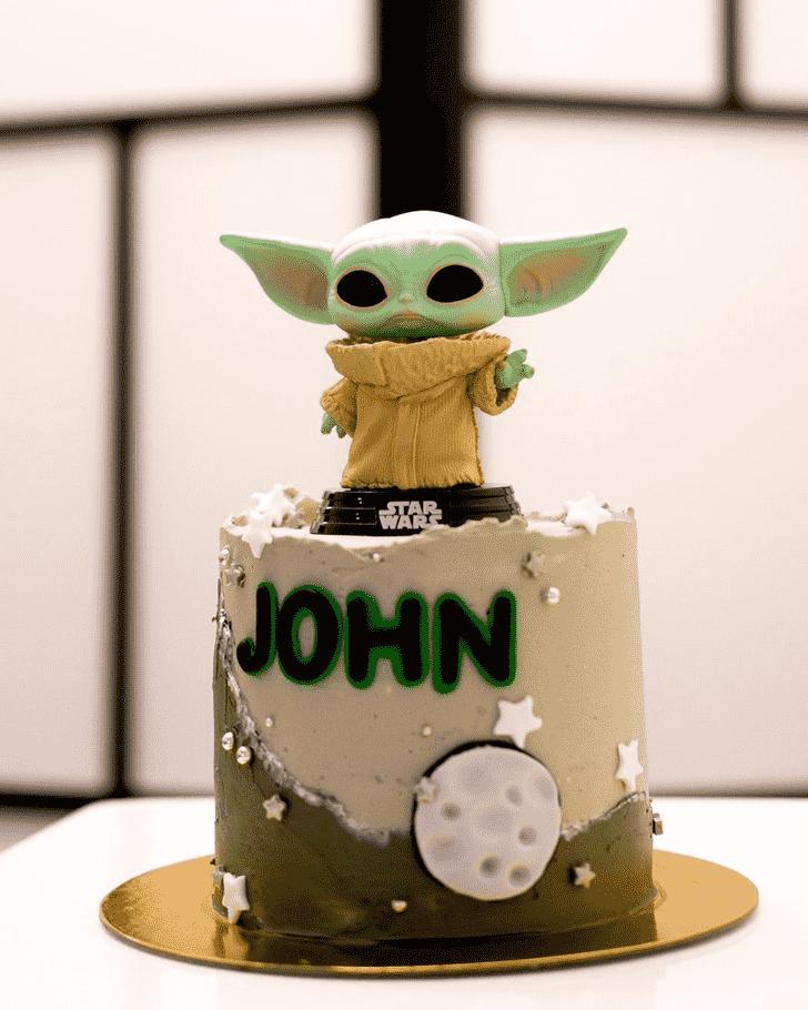 Enticing Baby Yoda Cake