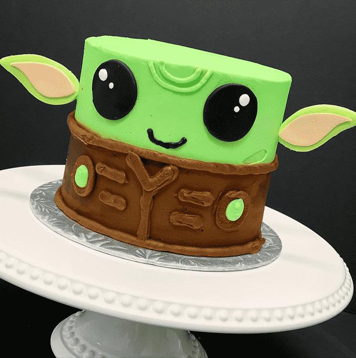 Exquisite Baby Yoda Cake