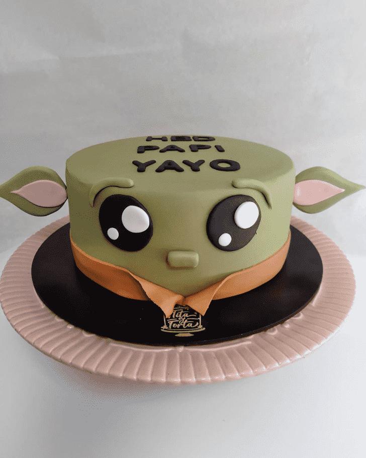 Good Looking Baby Yoda Cake