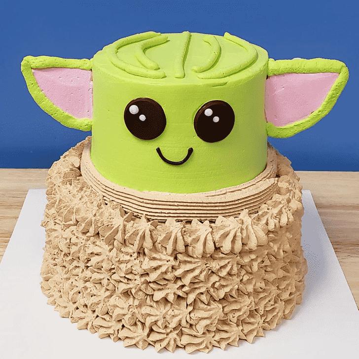 Graceful Baby Yoda Cake
