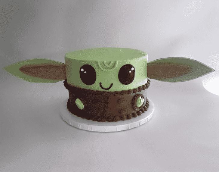 Magnificent Baby Yoda Cake