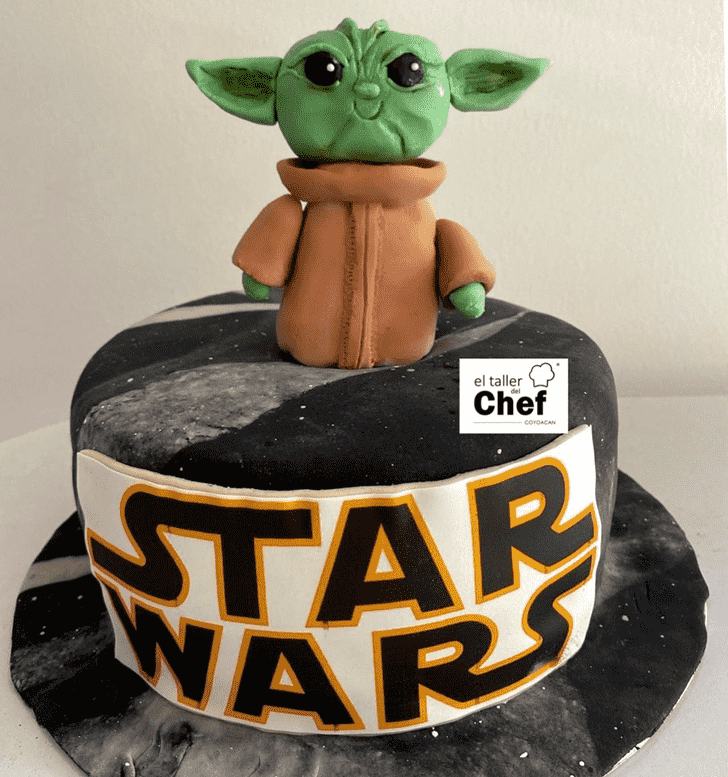 Ravishing Baby Yoda Cake