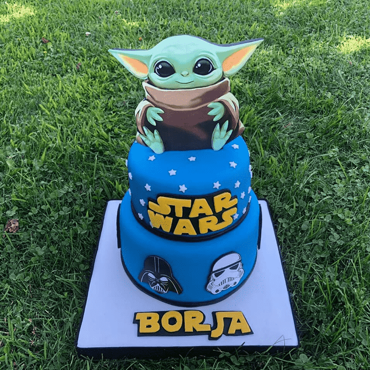 Resplendent Baby Yoda Cake