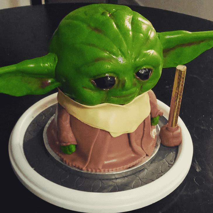 Slightly Baby Yoda Cake